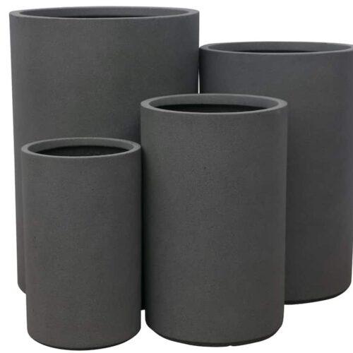 Marnus Tall Cylinder Dark Grey