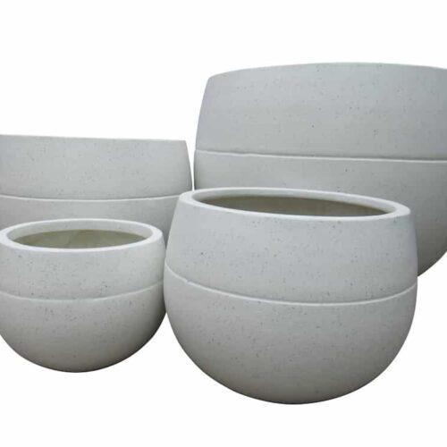 Belly Pot White Terrazzo